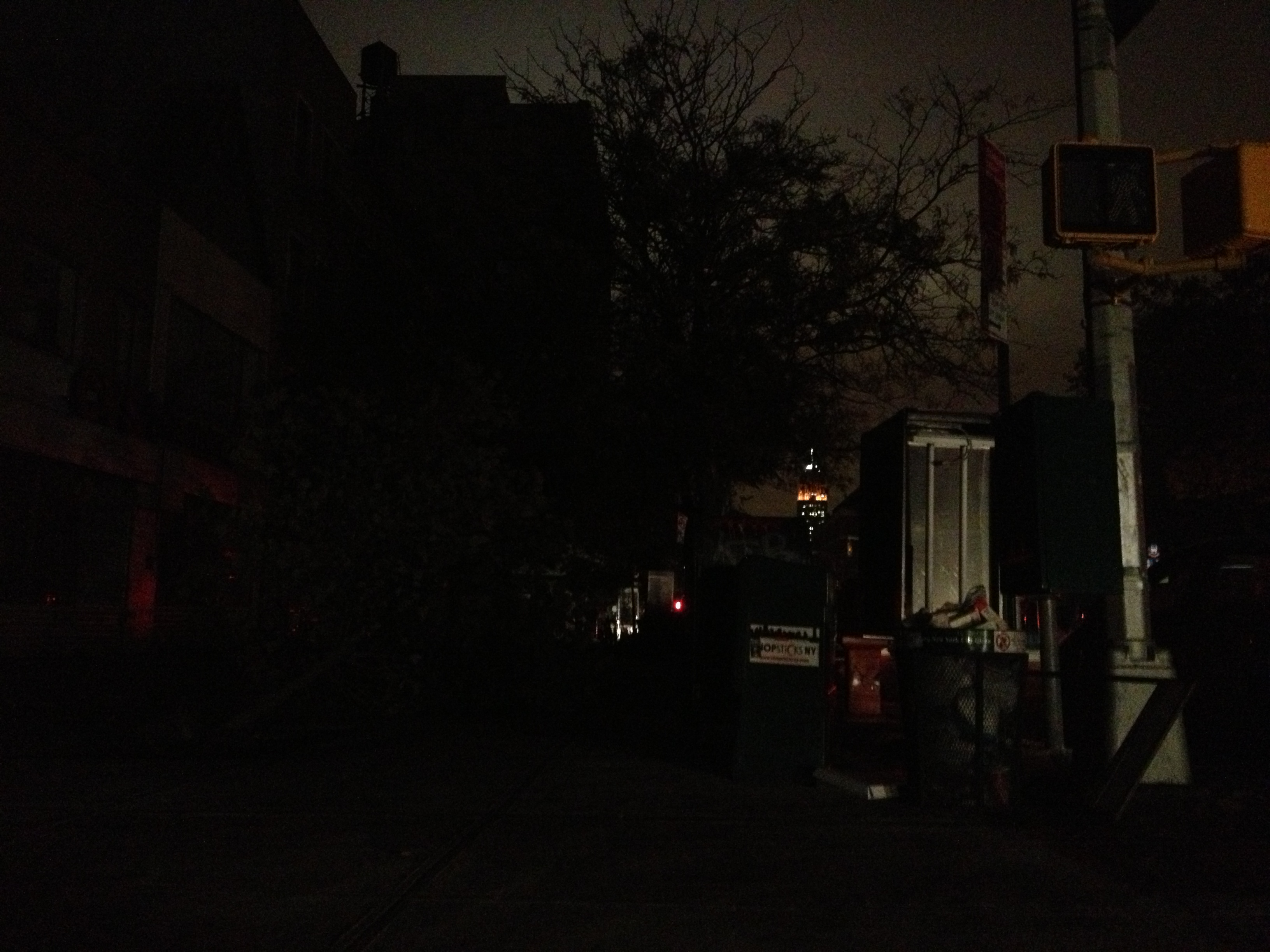 My street corner was dark, but the Empire State Building remained a beacon