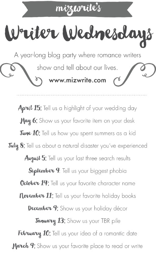 Writer Wednesday Date List